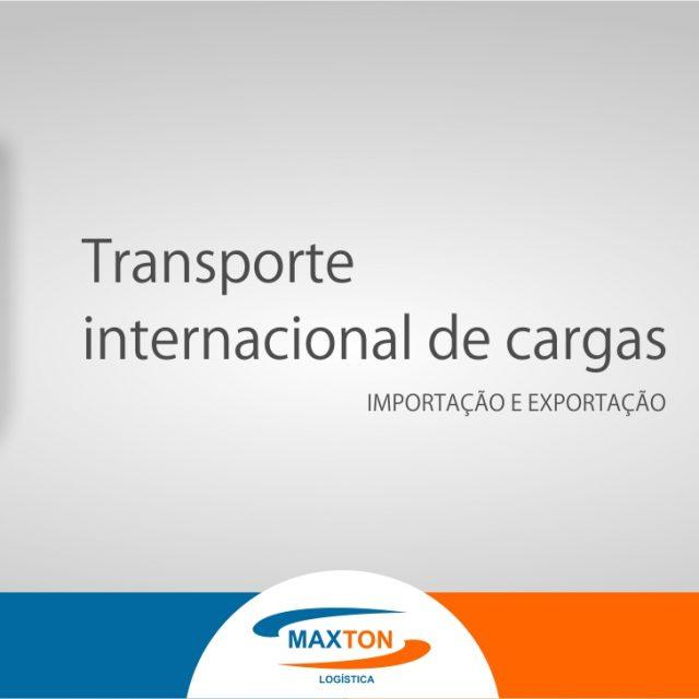 O agenciamento para transporte internacional de cargas
