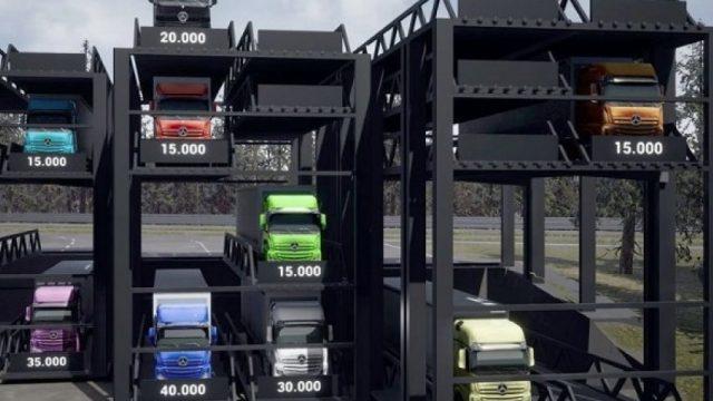 Apresentamos o estacionamento vertical para caminhões.