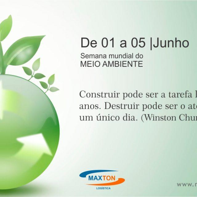 De 01 a 05 de junho comemora-se a semana Mundial do Meio Ambiente